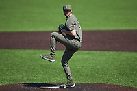 Vanderbilt Commodores relief pitcher Ethan Smith (27) in action against the South Carolina Gamecocks at Hawkins Field on March 21, 2021 in Nashville, Tennessee. (Brian Westerholt/Four Seam Images)