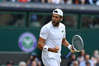 8th July 2021, Wimbledon, SW London, England; 2021 Wimbledon Championships, quarterfinals;   Matteo Berrettini Ita