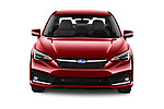 Car photography straight front view of a 2021 Subaru Impreza Limited 4 Door Sedan Front View