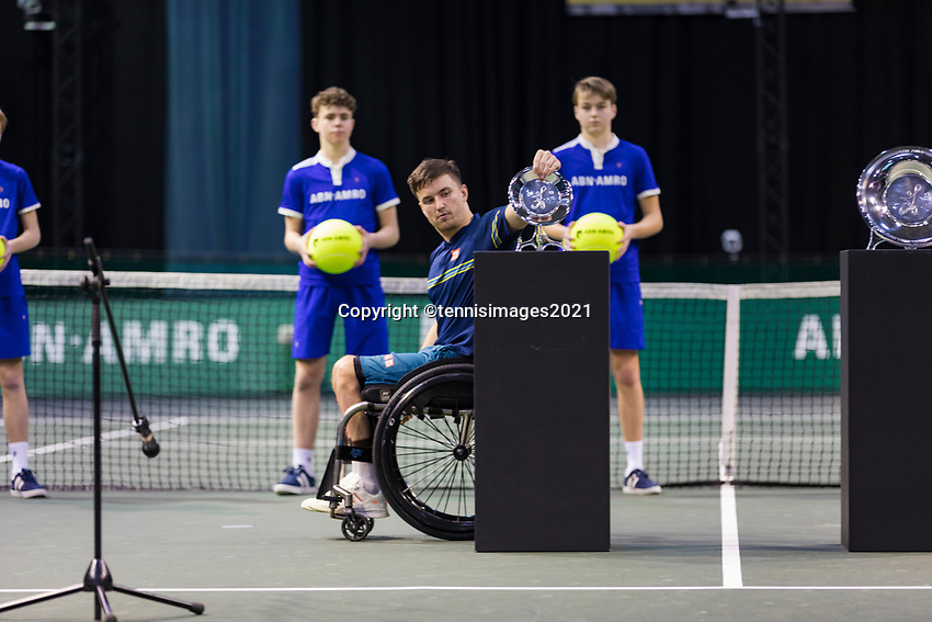 Rotterdam, The Netherlands,7 march  2021, ABNAMRO World Tennis Tournament, Ahoy,  <br /> Wheelchair final: Gordon Reid (GBR). Photo: www.tennisimages.com/