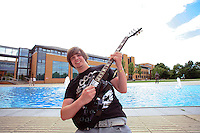 Student who won a Gibson guitar signed by Jimmy Page of Led Zepellin.