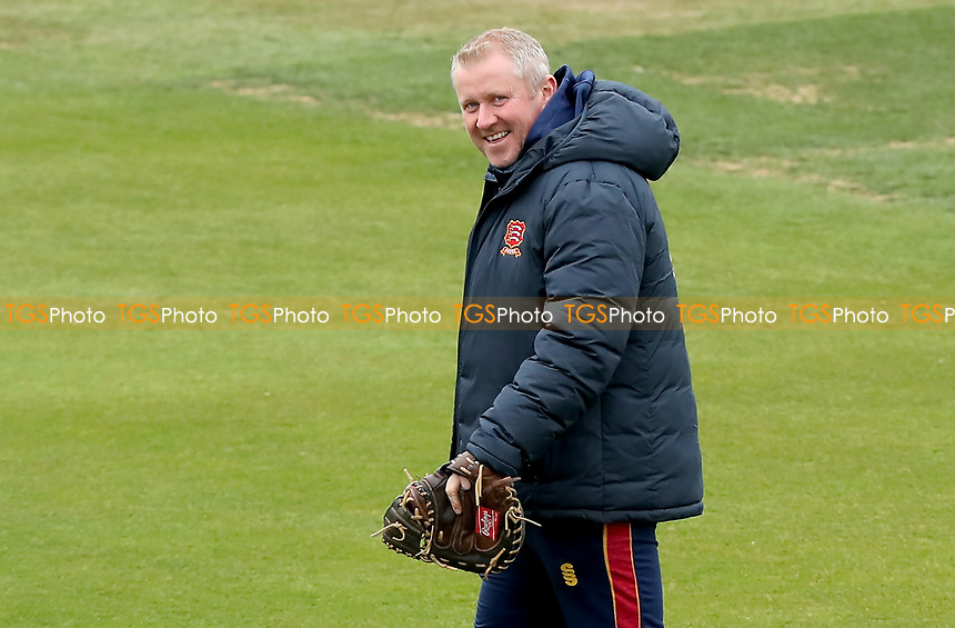 Essex head coach Anthony McGrath smiles during the warmup prior to Essex CCC vs Worcestershire CCC, LV Insurance County Championship Group 1 Cricket at The Cloudfm County Ground on 8th April 2021