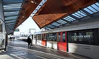 Nederland  Amsterdam   2021. Lockdown. Het is rustig in het openbaar vervoer. Metro bij Station Bijlmer Arena. Zuidoost.       Foto Berlinda van Dam / HH / ANP.
