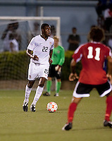 Gale Agbossoumonde controls the ball. US Under 20 Men's National Team played to a scoreless draw vs Trinidad & Tobago, advancing after winning 4-3 on penalty kicks at the Marvin Lee Stadium in Macoya, Trinidad on March 13th, 2009 during the 2009 CONCACAF U-20 Championship.