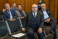 Der Antisemitismusbeauftragte des Bundes, Dr. Felix Klein, hat am Montag den 26. November 2018 die Antisemitismusbeauftragten der Länder zu erstem Koordinationstreffen eingeladen.<br /> Bisher haben sechs Länder eigene Antisemitismusbeauftrage ernannt: Baden-Wuerttemberg, Bayern, Hessen, Nordrhein-Westfalen, Rheinland-Pfalz, Saarland und Sachsen-Anhalt. Das Treffen, an dem auch Daniel Botmann, Geschaeftsfuehrer des Zentralrates der Juden teilnahm, fand im Bundesministerium des Innern, fuer Bau und Heimat statt.<br /> Im Bild vordere Stuhlreihe vlnr.: der Antisemitismusbeauftragte fuer Rheinland-Pfalz, Dieter Burgard und der bayerische Antisemitismusbeauftragte Ludwig Spaenle.<br /> Zweite Stuhlreihe vlnr.: Der Antisemitismusbeauftragte von Sachsen-Anhalt, Wolfgang Schneiss; der Antisemitismusbeauftragte fuer Baden-Wuerttemberg, Michael Blume.<br /> 26.11.2018, Berlin<br /> Copyright: Christian-Ditsch.de<br /> [Inhaltsveraendernde Manipulation des Fotos nur nach ausdruecklicher Genehmigung des Fotografen. Vereinbarungen ueber Abtretung von Persoenlichkeitsrechten/Model Release der abgebildeten Person/Personen liegen nicht vor. NO MODEL RELEASE! Nur fuer Redaktionelle Zwecke. Don't publish without copyright Christian-Ditsch.de, Veroeffentlichung nur mit Fotografennennung, sowie gegen Honorar, MwSt. und Beleg. Konto: I N G - D i B a, IBAN DE58500105175400192269, BIC INGDDEFFXXX, Kontakt: post@christian-ditsch.de<br /> Bei der Bearbeitung der Dateiinformationen darf die Urheberkennzeichnung in den EXIF- und  IPTC-Daten nicht entfernt werden, diese sind in digitalen Medien nach §95c UrhG rechtlich geschuetzt. Der Urhebervermerk wird gemaess §13 UrhG verlangt.]