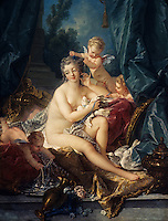 Francois Boucher:  The Toilet of Venus, 1751. Met. Museum of Art. Reference only.