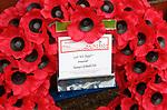 11.11.18 Rangers v Motherwell: Wreath from Rangers