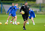 St Johnstone Training...14.08.21<br />Manager Callum Davidson pictured during training at McDiarmid Park this morning ahead of tomorrow's Premier Cup game at Arbroath.<br />Picture by Graeme Hart.<br />Copyright Perthshire Picture Agency<br />Tel: 01738 623350  Mobile: 07990 594431