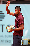 Nick Kyrgios, Australia, during Madrid Open Tennis 2016 match.May, 5, 2016.(ALTERPHOTOS/Acero)