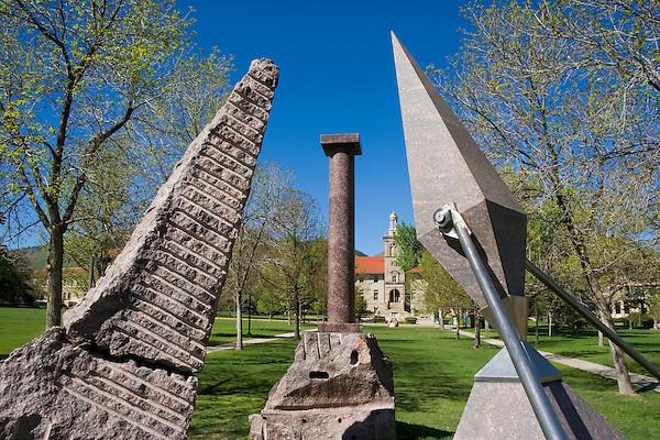 Artwork at Colorado School of Mines, Golden, Colorado, USA John offers private photo tours of Denver, Boulder and Rocky Mountain National Park.