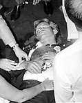 Bobby Kennedy after being shot by Sirhan Sirhan, Sirhan Sirhan held by RFK staff and Rosey Grier, Robert F. Kennedy, RFK, Bobby, Bobby Kennedy, assassination of RFK, assassination, assassination of Robert F. Kennedy, Ethel Kennedy, June 5 1968, Sirhan Sirhan,  Ambassador Hotel Los Angeles California, Rosey Grier, George Plimpton, Rafer Johnson, Photojournalism, Photojournalist, collecting editing, presenting news photographs, Photojournalism provides visual support for stories, mainly in the print media,  Commercial photography's main focus is to sell a product or service. Fine Art photography are photographs that are created to fulfill the creative vision of the photographer, Photojournalism provides visual support for stories, mainly in the print media,  Commercial photography's main focus is to sell a product or service,  RFK Photo's by Ron Bennett, Robert F. Kennedy photographs by Ron Bennett, Robert F.  Bobby Kennedy assassination photographs by Ron Bennett, Sirhan Sirhan photographs by Ron Bennett, RFK Photographs by Ronald T. Bennett,