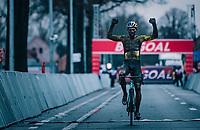 Wout van Aert (BEL/Jumbo-Visma) racing the UCI cyclo-cross World Cup in Dendermonde on september 27, 2020 in Belgium.<br /> <br /> ©kramon/RedBull Pool