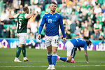 Hibs v St Johnstone…22.09.21  Easter Road.    SPFL<br />A disappointed Glenn Middleton as the final whistle goes<br />Picture by Graeme Hart.<br />Copyright Perthshire Picture Agency<br />Tel: 01738 623350  Mobile: 07990 594431