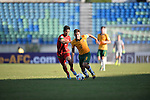 Indonesia vs Australia during the 2014 AFC U19 Mens Championship group B match on October 12, 2014 at the Thuwunna Stadium, in Yangon, Myanmar. Photo by World Sport Group