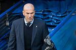 Real Madrid coach Zinedine Zidane during La Liga match between Real Madrid and R. C. Deportivo at Santiago Bernabeu Stadium in Madrid, Spain. January 18, 2018. (ALTERPHOTOS/Borja B.Hojas)