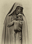 marble statue, Saint Clare