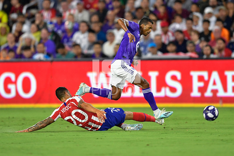 Orlando, FL - Wednesday July 31, 2019:  Nani #17, Vitolo #20 during the Major League Soccer (MLS) All-Star match between the MLS All-Stars and Atletico Madrid at Exploria Stadium.