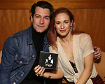Michael Canpayno and Teal Wicks during 'The Cher Show' Original Broadway Cast Recording performance and CD signing at Barnes & Noble Upper East Side on May 14, 2019 in New York City.