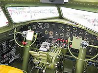 B-17 bomber cockpit by Art Harman. N390TH
