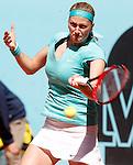 Petra Kvitova during Madrid Open Tennis 2015 match.May, 6, 2015.(ALTERPHOTOS/Acero)