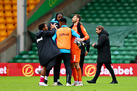 3rd October 2020; Carrow Road, Norwich, Norfolk, England, English Football League Championship Football, Norwich versus Derby; A dejected Norwich City Manager Daniel Farke is seen after the 0-1 loss