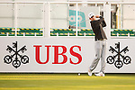 Brett Munson of USA tees off the first hole during the 58th UBS Hong Kong Open as part of the European Tour on 08 December 2016, at the Hong Kong Golf Club, Fanling, Hong Kong, China. Photo by Marcio Rodrigo Machado / Power Sport Images
