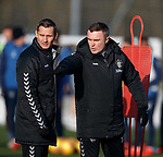 01.02.2019: Rangers training: Peter Lovenkrands and Tom Culshaw