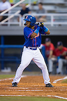 Raphael Ramirez (21) of the Kingsport Mets at bat against the Elizabethton Twins at Hunter Wright Stadium on July 8, 2015 in Kingsport, Tennessee.  The Mets defeated the Twins 8-2. (Brian Westerholt/Four Seam Images)