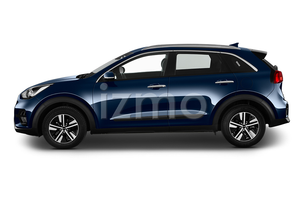 Car Driver side profile view of a 2020 KIA Niro More 5 Door Hatchback Side View