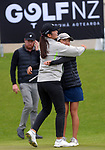 Vivian Lu celebrates victory in the women's amateur strokeplay final round. Day four of the Renaissance Brewing NZ Stroke Play Championship at Paraparaumu Beach Golf Club in Paraparaumu, New Zealand on Sunday, 21 March 2021. Photo: Dave Lintott / lintottphoto.co.nz