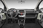 Straight dashboard view of a 2009 - 2012 Citroen C1 Airplay 3-Door Hatchback.