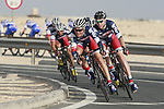 Lotto-Belisol Team in action during the 2nd Stage of the 2012 Tour of Qatar an 11.3km team time trial at Lusail Circuit, Doha, Qatar. 6th February 2012.<br /> (Photo Eoin Clarke/Newsfile)