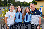 Twins Amy and Brid O'Shea graduating from Presentation NS on Monday with their parents Anna and Tony O'Shea.