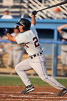 Connecticut Tigers outfielder Chao-Ting Tang (24) during a game vs. the Batavia Muckdogs at Dwyer Stadium in Batavia, New York July 8, 2010.   Connecticut defeated Batavia 4-2 in extra innings.  Photo By Mike Janes/Four Seam Images