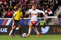 Harrison, NJ - Tuesday April 10, 2018: Danny Royer during leg two of a  CONCACAF Champions League semi-final match between the New York Red Bulls and C. D. Guadalajara at Red Bull Arena. C. D. Guadalajara defeated the New York Red Bulls 0-0 (1-0 on aggregate).
