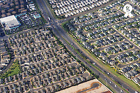 Housing development and highways, aerial view, Honolulu, Oahu Island, Usa (Licence this image exclusively with Getty: http://www.gettyimages.com/detail/85985772 )