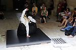 """Uzes Danse Festival 2010<br /> Confidences / Marc Vincent, ARTEFACTDANSE<br /> <br /> Confidence 3 : Laurence Saboye, présente seule """"Rimbaud ou la parole libérée"""", opéra de chambre de Marco AntonioPérez-Ramirez et Christophe Donner<br /> Le 12/06/2010<br /> Uzes<br /> © Laurent Paillier / photosdedanse.com<br /> All rights reserved"""
