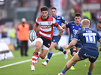 9th October 2021; Kingsholm Stadium, Gloucester, England; Gallagher Premiership Rugby, Gloucester versus Sale Sharks;  Louis Rees-Zammit of Gloucester chips through to set himself up for a try