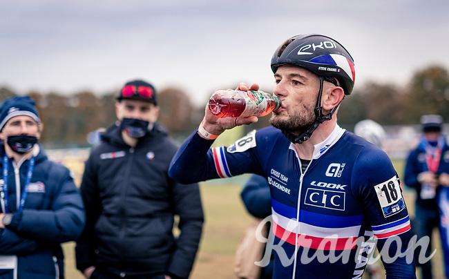 Steve Chainel (FRA) post-race<br /> <br /> UEC Cyclocross European Championships 2020 - 's-Hertogenbosch (NED)<br /> <br /> Elite MEN<br /> <br /> ©kramon