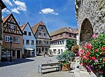 Deutschland, Bayern, Franken, Dettelbach: Marktplatz   Germany, Bavaria, Franconia, village Dettelbach: market square