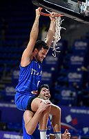 04.07.2021 Belgrade Serbia-Italy FIBA Olympic qualifying tournament final men s basketball Giampaolo Riccidown with Marco Spissu up Italy celebrate victory :Str/<br /> Photo Imago/Insidefoto ITA ONLY