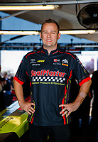 Sep 2, 2017; Clermont, IN, USA; NHRA top fuel driver Richie Crampton poses for a portrait during qualifying for the US Nationals at Lucas Oil Raceway. Mandatory Credit: Mark J. Rebilas-USA TODAY Sports
