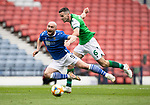 St Johnstone v Hibs…22.05.21  Scottish Cup Final Hampden Park<br />Chris Kane is fouled by Paul McGinn for a penalty<br />Picture by Graeme Hart.<br />Copyright Perthshire Picture Agency<br />Tel: 01738 623350  Mobile: 07990 594431