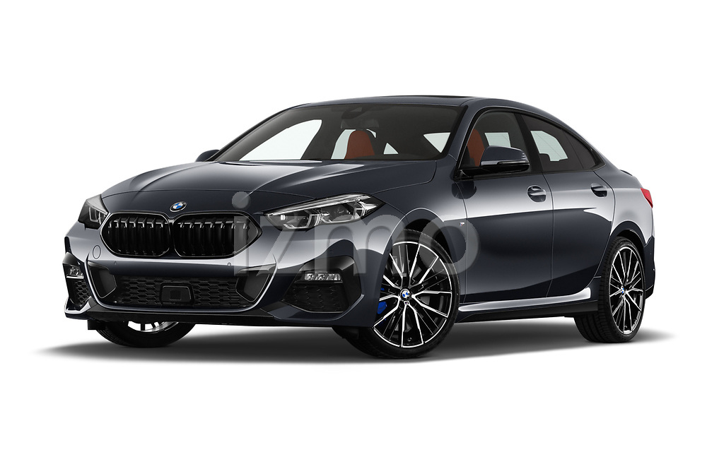 Stock pictures of low aggressive front three quarter view of 2020 BMW 2-Series-Gran-Coupe M-Sport 4 Door Sedan Low Aggressive