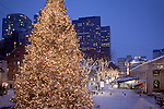 Christmas lights at Quincy Market, Boston, MA