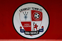 Crawley banner ahead of Crawley Town vs Sutton United, Sky Bet EFL League 2 Football at The People's Pension Stadium on 16th October 2021