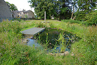 Pond in the conservation area, Chipping, Lancashire.