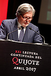 Inigo Mendez de Vigo y Montojo Minister of Education, Culture and Sport of the Government of Spain during the 21st continuous reading of El Quijote. April 21,2017. (ALTERPHOTOS/Acero)