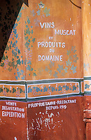Europe/France/Corse/2B/Haute-Corse/Cap Corse/Nebbio/Saint-Florent: Mur peint célébrant les vins corses