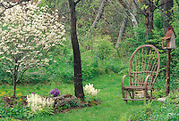 Wooded area for hyacynth and dogwood in spring
